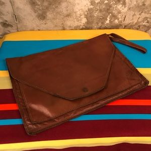 Vintage 1970's Leather Clutch